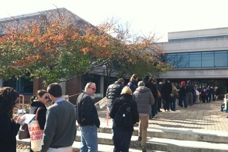 In Northern Virginia, long lines and provisional ballots