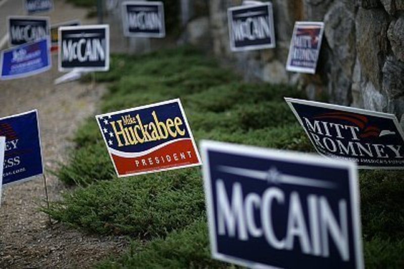 Selling yard signs can mean banking votes