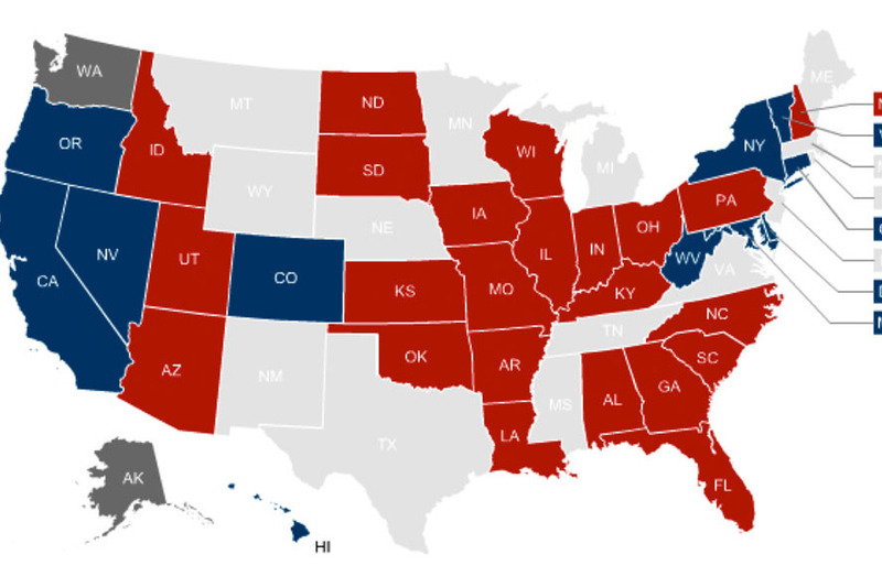 Landscape senate map