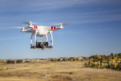 Landscape small drone